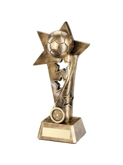 Brz/Gold Football Twisted Star Column Trophy - Available in 4 Sizes