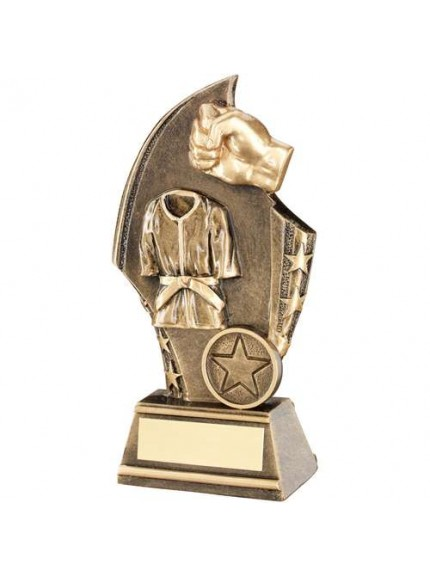 Brz/Gold Martial Arts Curved Plaque Trophy - Available in 3 Sizes