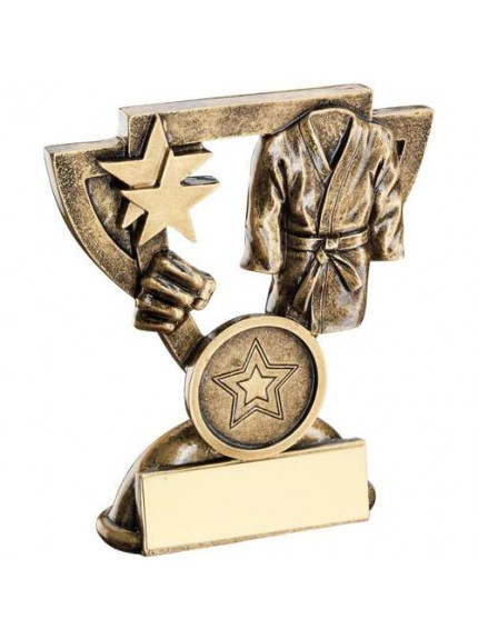 Brz/Gold Martial Arts Mini Cup Trophy - Available in 2 Sizes