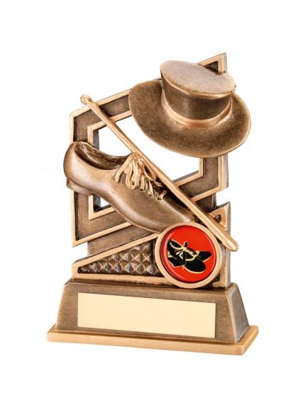13.5cm Bronze & Gold Tap Dance Diamond Series Trophy - 5.25In