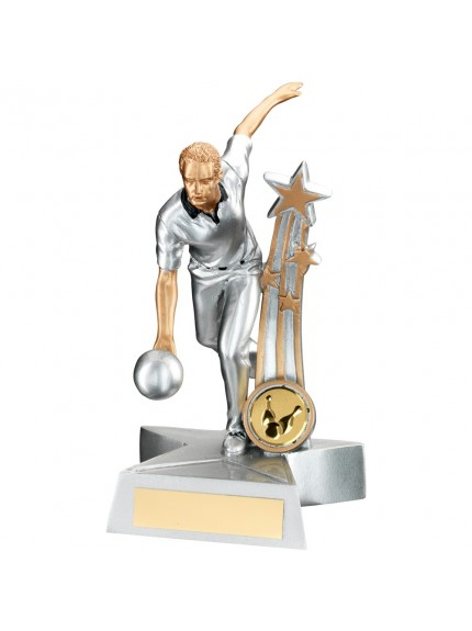 Amazing Male Ten Pin Bowling Star Award - Available in two sizes.