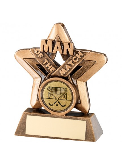 9.5cm Bronze & Gold Man Of The Match Mini Star Darts Trophy
