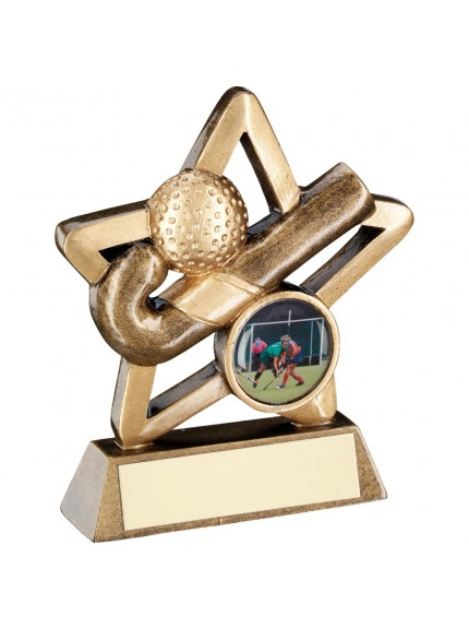 Bronze And Gold Hockey Mini Star Trophy