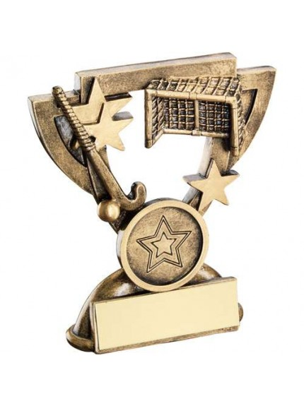 Brz/Gold Hockey Mini Cup Trophy - Available in 2 Sizes