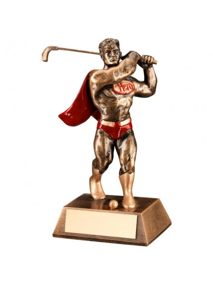 Muscular Man Golf Resin Hero Award - Available in one chunky size only.