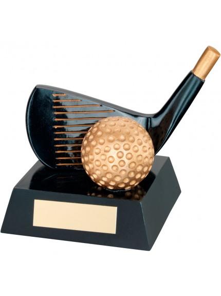 Impressive Black and Gold Golf Wedge Resin Trophy
