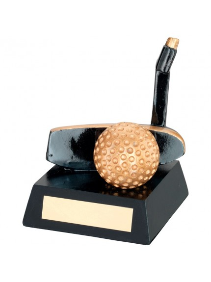 Stylish and Classy Black and Gold Putter Resin Award - Available in 1 size only