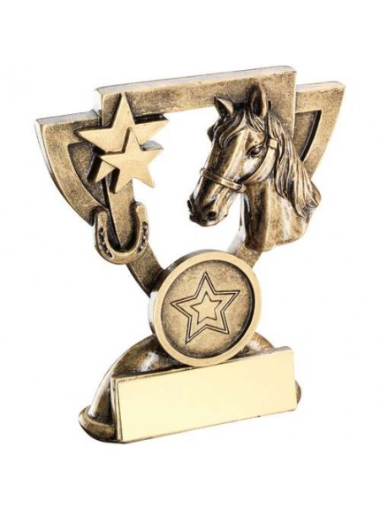 Brz/Gold Horse Mini Cup Trophy - Available in 2 Sizes