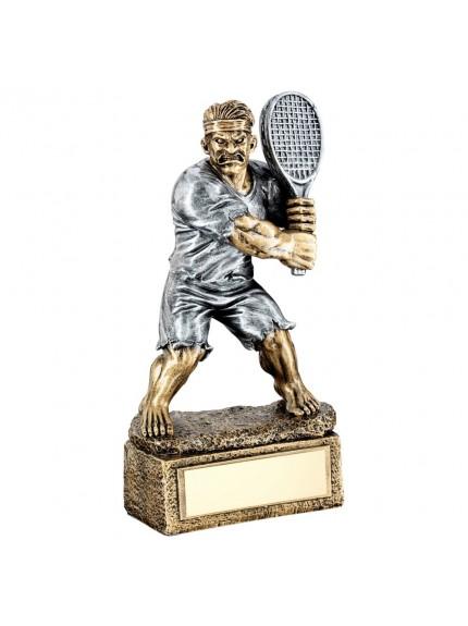 Brz/Pew Tennis 'Beasts' Figure Trophy - 6.75inch