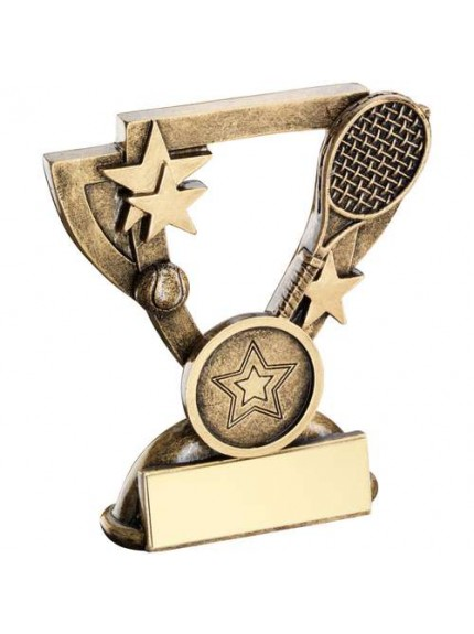 Brz/Gold Tennis Mini Cup Trophy - Available in 3 Sizes