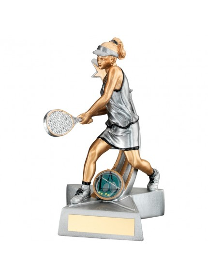Shooting Star Tennis Female Figure Resin Award - Available in 2 sizes