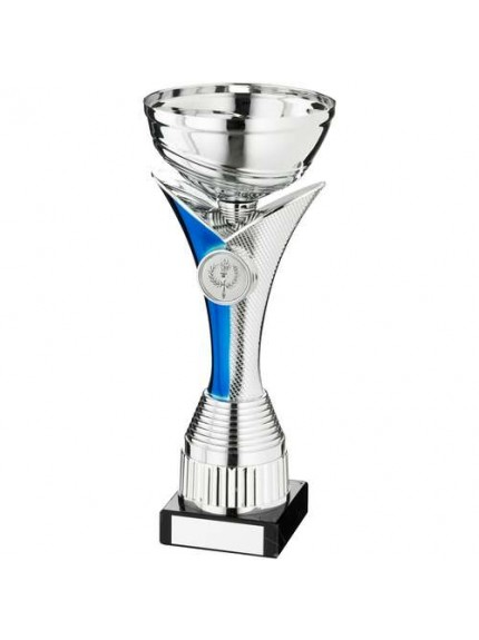 Silv/Blue V Stem Trophy - Available in 4 Sizes
