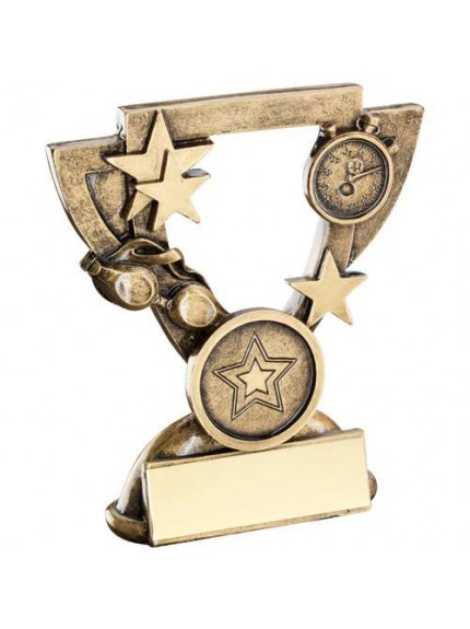 Brz/Gold Swimming Mini Cup Trophy - Available in 2 Sizes