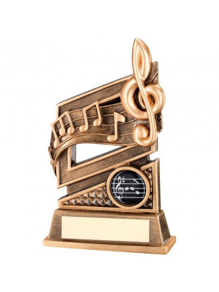 15.5cm Bronze & Gold Music Diamond Series Trophy