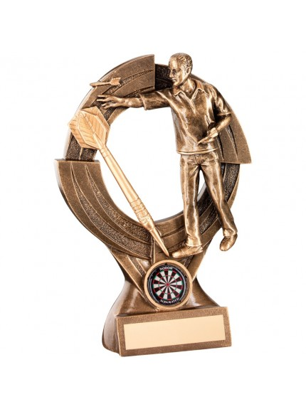 Bronze And Gold Male Darts 'Quartz' Figure Trophy