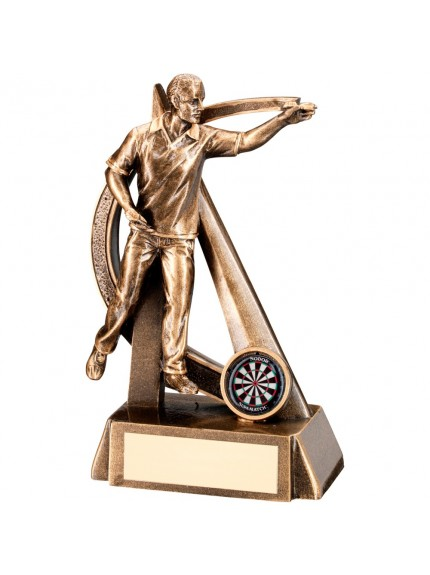 Bronze And Gold Male Darts Geo Figure Trophy
