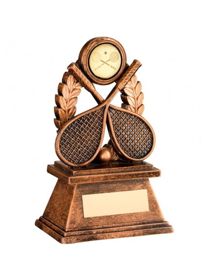 Bronze And Gold 'Squash' Oval Wreath Trophy