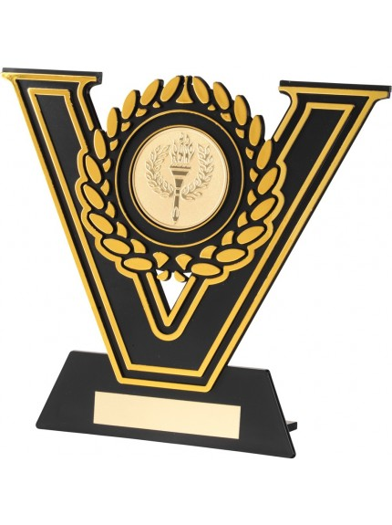 Black And Gold Plastic Plaque Trophy