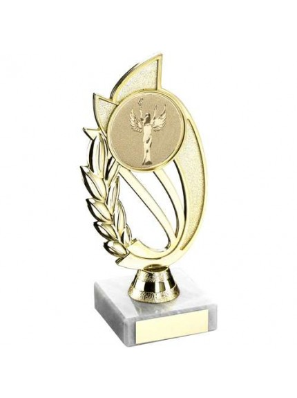 Gold/Silver Plastic Holder On Marble Trophy - Available in 4 Sizes