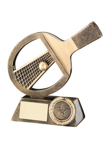 Bronze And Gold Table Tennis Trophy