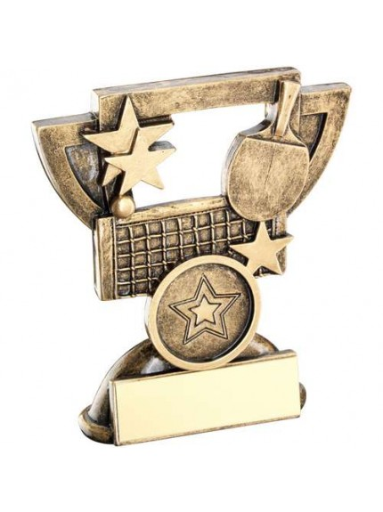 Brz/Gold Table Tennis Mini Cup Trophy - Available in 2 Sizes