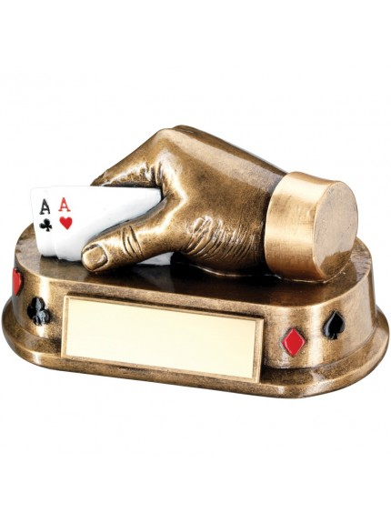 Bronze And Gold Multi Cards Hand Trophy