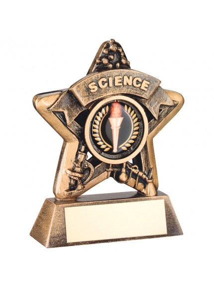 Magnificent Bronze and Gold Science Mini Star Trophy