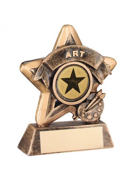 Terrific Bronze and Gold Art Mini Star Trophy