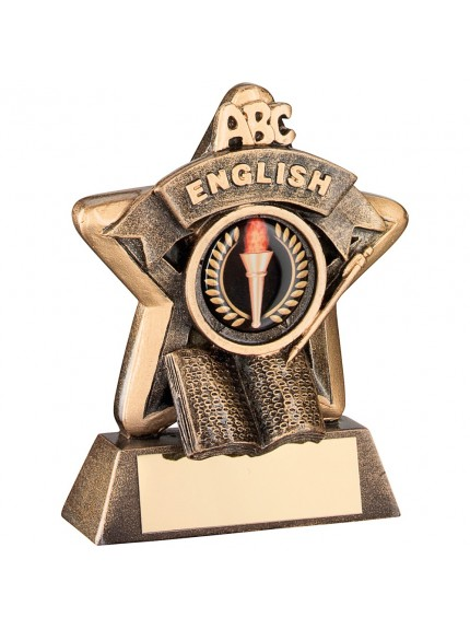 Superb Bronze and Gold English Mini Star Trophy