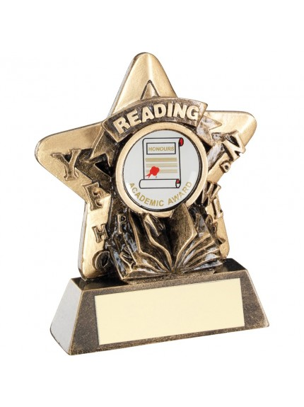 9.5cm Bronze & Gold Reading Mini Star Trophy