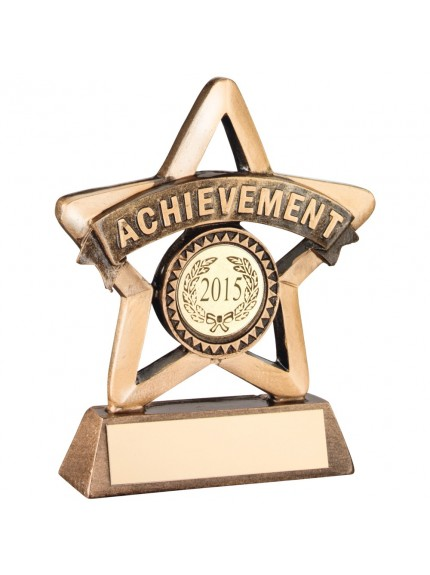 Bronze And Gold Resin 'Achievement' Mini Star Trophy