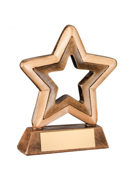 Bronze And Gold Resin Generic Mini Star Trophy