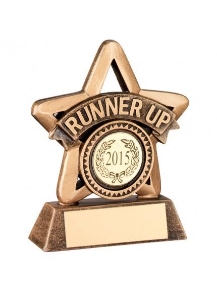 11cm Bronze & Gold Resin 'Winner' Mini Star Trophy