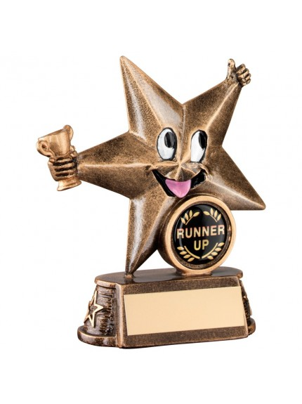 Bronze And Gold Resin Generic 'Comic Star' Figure Trophy