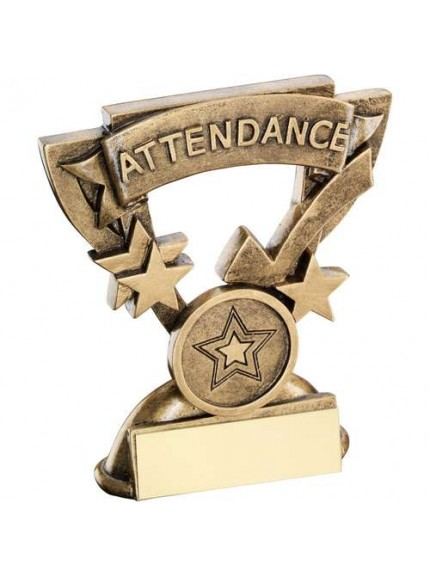 9.5cm Brz/Gold Attendance Mini Cup Trophy