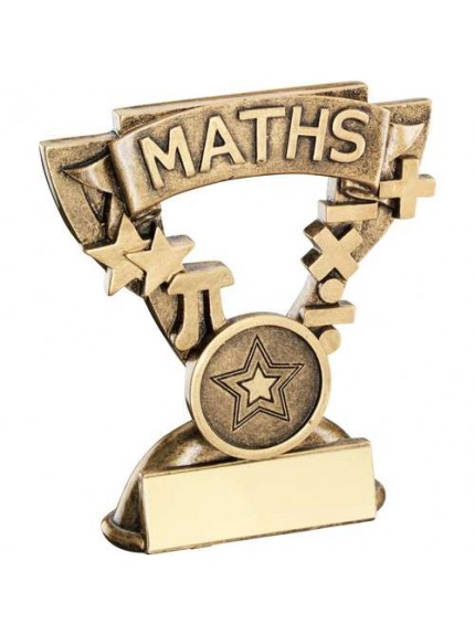 9.5cm Brz/Gold Maths Mini Cup Trophy