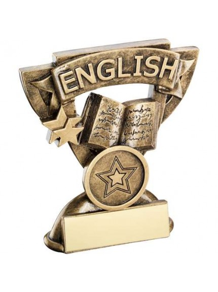 9.5cm Brz/Gold English Mini Cup Trophy