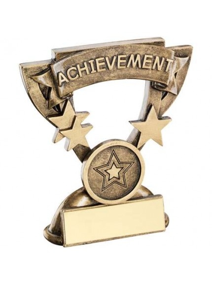 Brz/Gold Achievement Mini Cup Trophy - Available in 2 Sizes