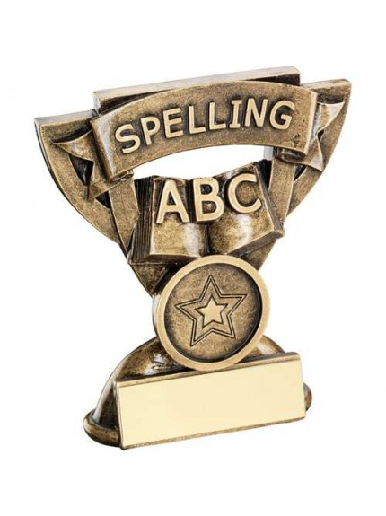 9.5cm Brz/Gold Spelling Mini Cup Trophy