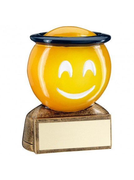 Brz/Yellow/Blue 'Halo Emoji' Figure Trophy - 2.75inch