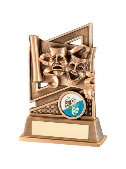 13.5cm Bronze & Gold Drama Diamond Series Trophy - 5.25In