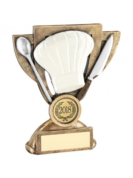 Brz/White/Silver Cooking Mini Cup Trophy