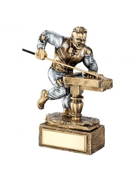 Brz/Pew Pool/Snooker 'Beasts' Figure Trophy - 6.75inch