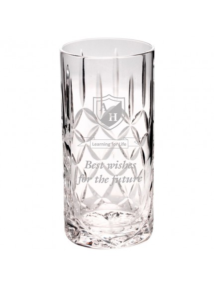 15.5cm 405Ml Highball Glass Tumbler - Blank Panel