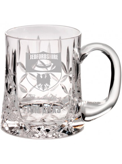 14cm 610Ml Glass Tankard - Blank Panel