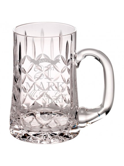 10.5cm 435Ml Glass Tankard - Blank Panel