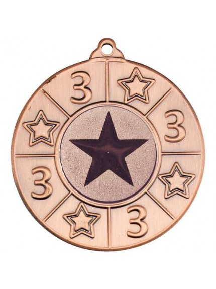 50mm 4 Star Medal - Available in Gold, Silver and Bronze