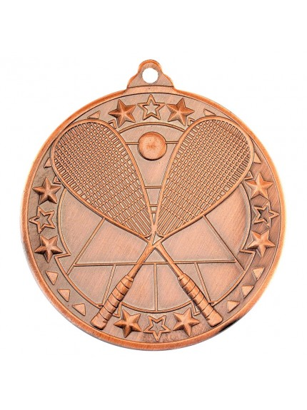 Squash 'Tri Star' Medal - 3 Colours