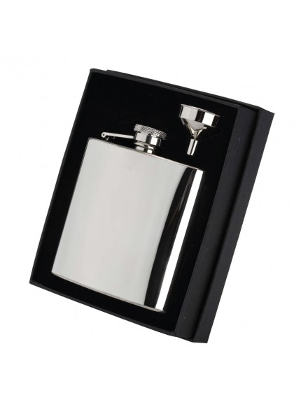 6oz Stainless Steel Hip Flask With Captive Top