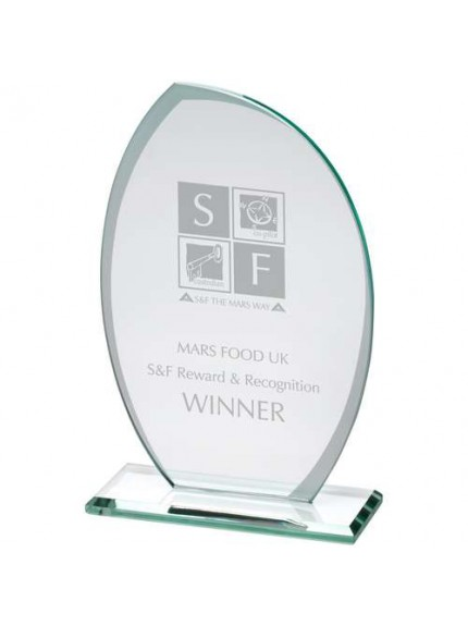 Jade Glass Plaque With Frosted Sides (6mm Thick) - Available in 3 Sizes